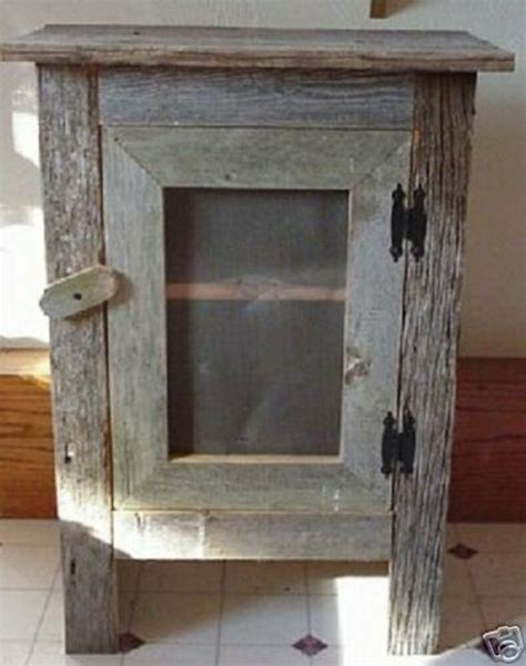 barn wood home decor old barn wood cabinet love this country decor pinterest