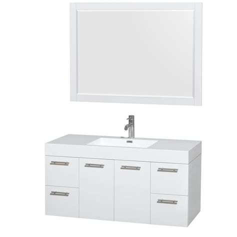 wyndham collection wcr410048esar amare 47 wyndham collection amare 47 in vanity in glossy white