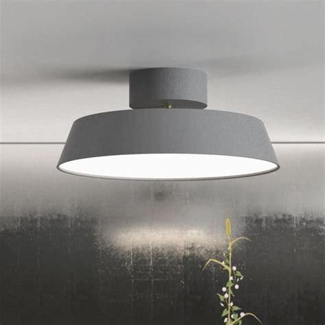 gray ceiling nordlux alba led ceiling light grey semi flush lights