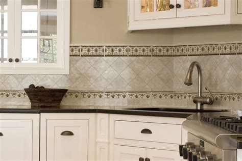 tile borders for kitchen backsplash colony tile border up stoneimpressions