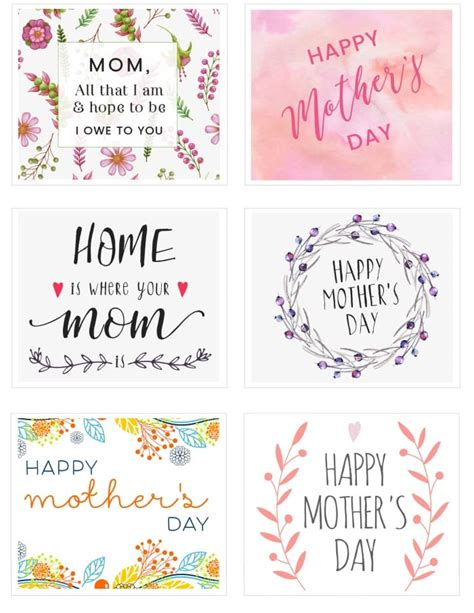 Free Printable Mothers Day Cards No free s day printable cards