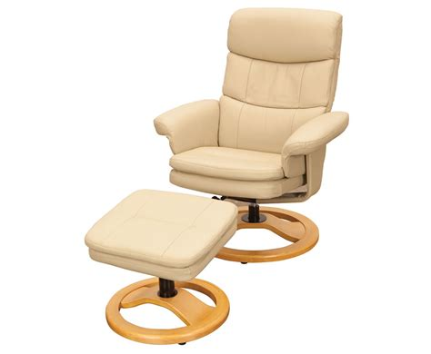 leather swivel recliner chair and stool slade taupe leather swivel recliner chair and foot stool
