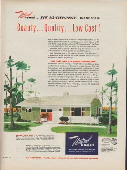 1953 national homes ad quot now air conditioned quot real estate