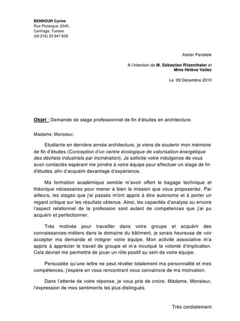 Lettre De Motivation école D Architecture Lettre De Motivation Parallele Pdf Par Houssem Fichier Pdf
