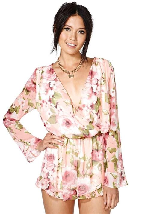 flower pattern jumpsuit slash into view vegan suede top gardens summer wear and