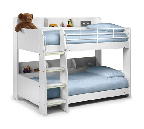 Childrens Bed by Julian Bowen Domino Bunk Bed White Bunk Beds Beds