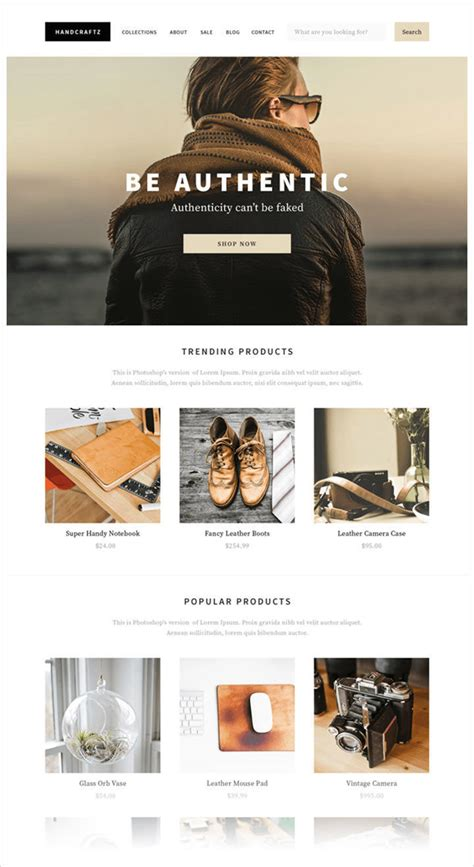 shopify themes reddit 50 best website interface photoshop tutorials hongkiat