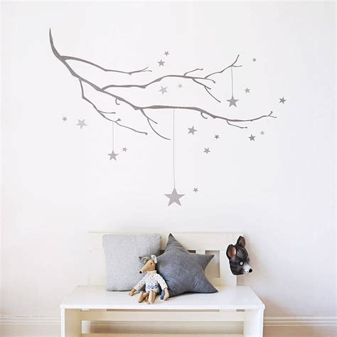 Children S Butterfly Fabric winter branch with stars fabric wall sticker by koko kids