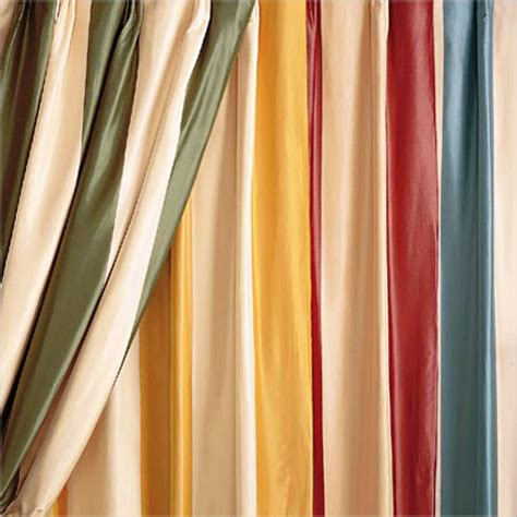 Striped Silk Fabric For Curtains Silk Taffeta Striped Curtains In Bengaluru Karnataka India Asra Incorporates