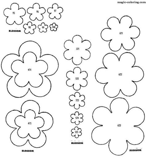 blossom template 26 best images about cut out patterns on