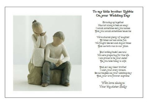 Personalised Wedding Day Poem Gift   TO MY BROTHER on your