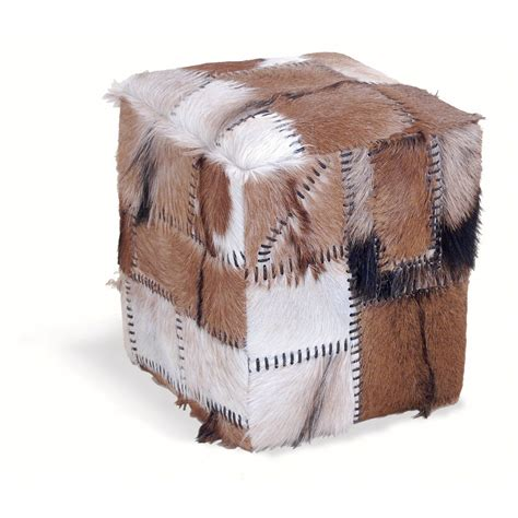 Patchwork Cow - patchwork cowhide stool box bar stools cuckooland