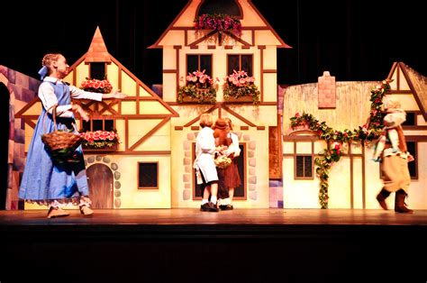 beauty and the beast village set set design and costuming for children s theater 3rd 5th