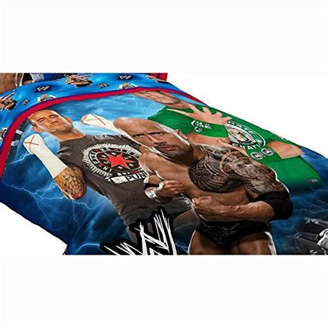 Wwe Twin Comforter Set New 3pc Wwe Wrestling Twin Bed Comforter Set The Rock