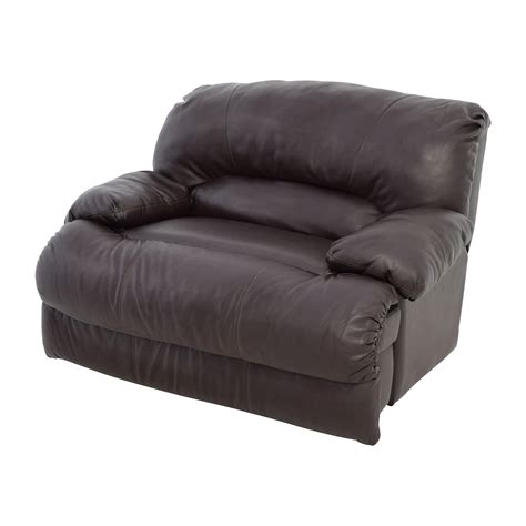 68 brown leather reclining loveseat sofas