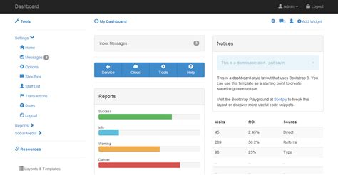 admin starter dashboard theme tree bootstrap template