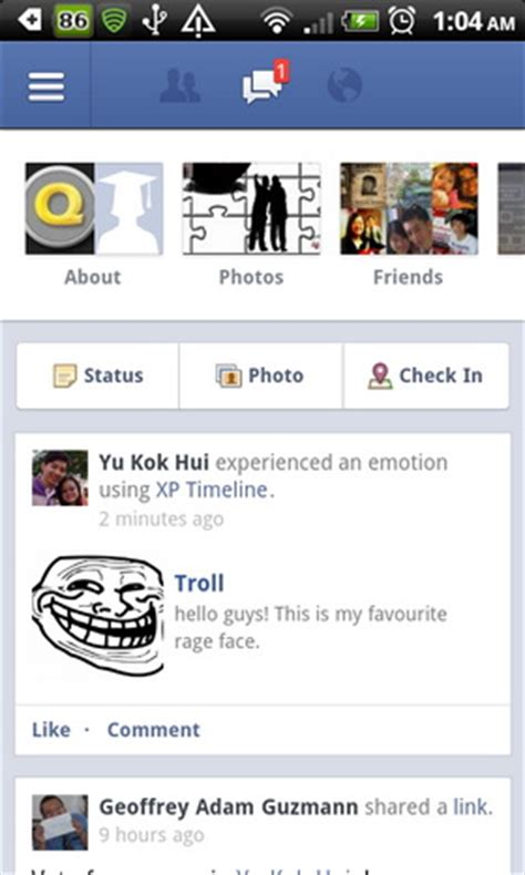 Facebook Status Memes - post rage faces in your facebook status message with meme