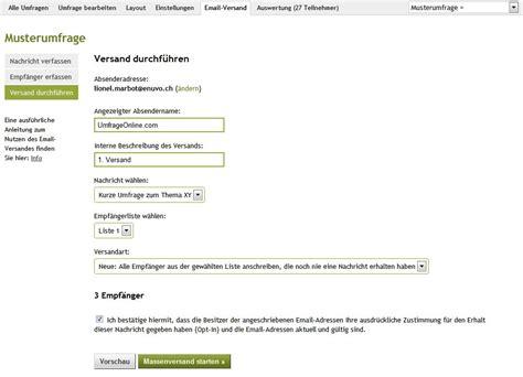Anschreiben Umfrage Beispiel Versenden Sie Ihre Umfrage Emails Direkt 252 Ber Umfrageonline Umfrage