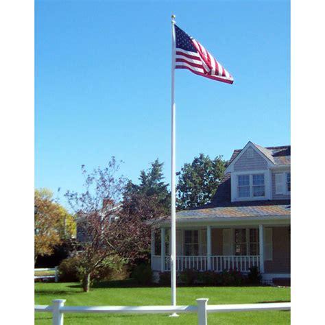 heavy duty residential 20 fiberglass flagpole