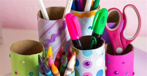 toilet paper roll desk organizer craft week diy desk organizer design improvised