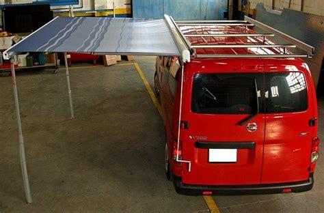 tenda per furgone allestimento con tenda per nv200 da syncro system