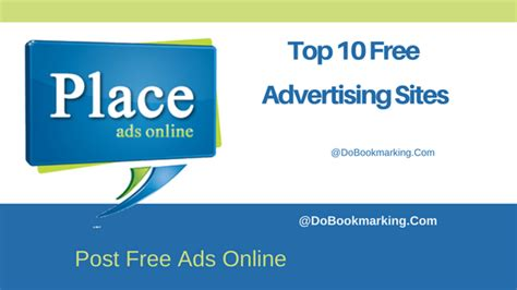 top 10 free advertising sites to post ads online for