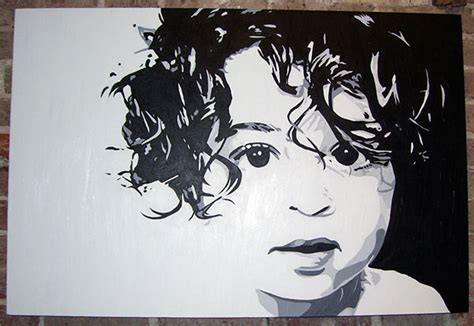 curly acrylic painting 24 quot x 36 quot on behance