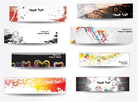 design banner on photoshop set of different abstract banners design vector 04