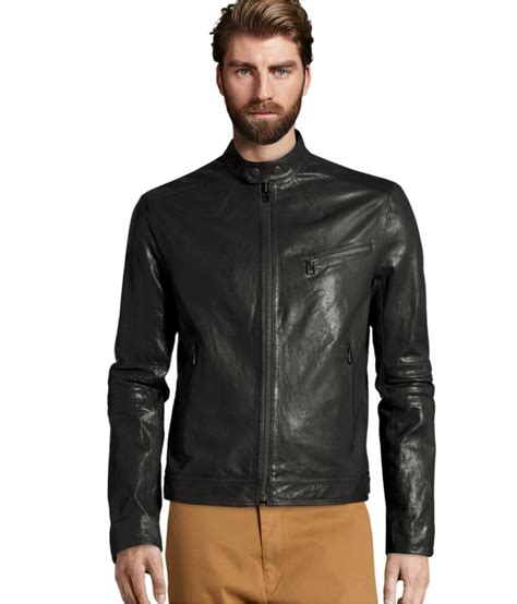 H Jaket lyst h m leather jacket in black for