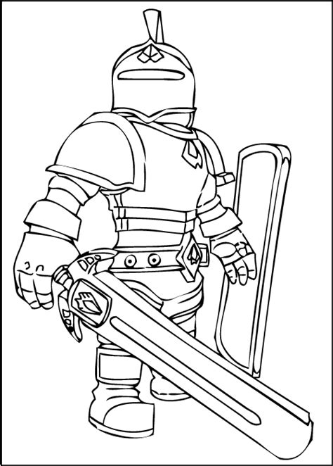 printable coloring pages roblox roblox knight coloring page