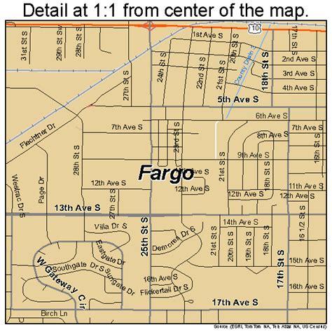 map of fargo nd fargo dakota map 3825700