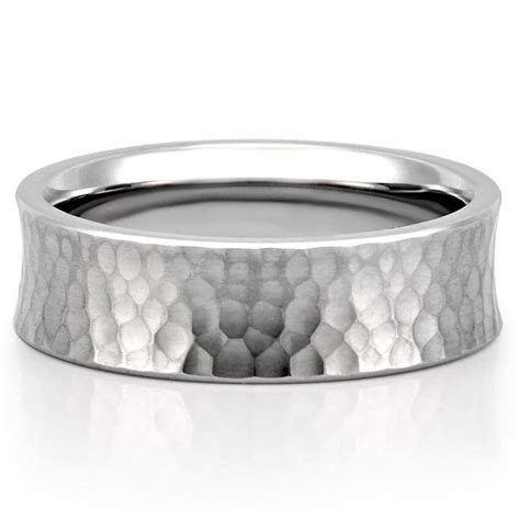Wedding Band by Hammered Wedding Band Comfort Fit Hammered Band Do