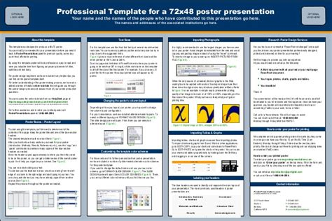professional poster design templates poster presentations 72x48 pro classic