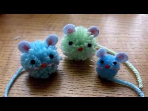how to make small cute ornaments how to make pom pom mice crafts with lucas