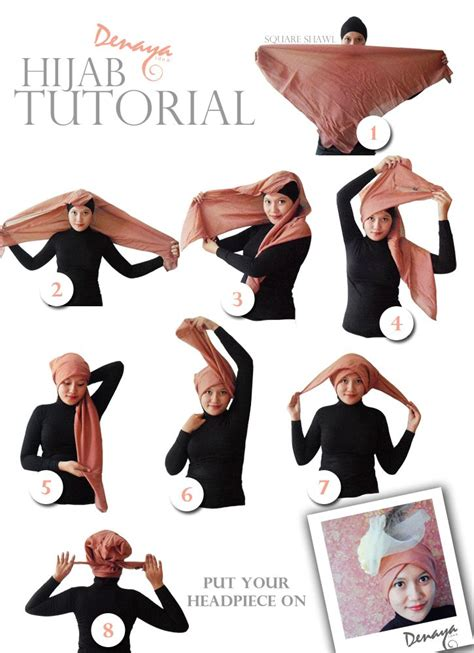 tutorial jilbab turban aneka model cara berhijab hairstylegalleries com