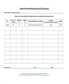 bathroom cleaning log template 31 log sheets in pdf