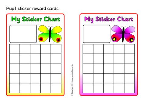 free printable reward charts spongebob pupil sticker reward cards sb4198 sparklebox