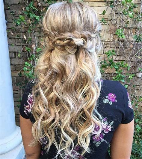 Bridesmaid Hair Half Up Curls by 31 Half Up Half Hairstyles For Bridesmaids Prom