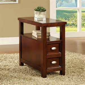 cherry end tables with drawers cherry finish wooden end table and drawer