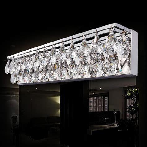 Discount Sconce Light Wall Light Crystal K9 Led Modern Bathroom Mirror Front Light Fixture