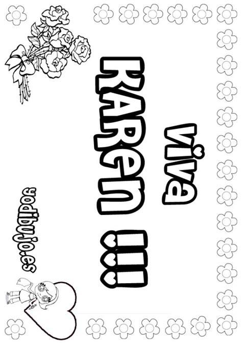 imagenes de letras goticas que digan karen dibujos para colorear karen es hellokids com