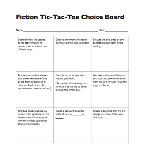 interactive learning menus choice boards using google docs