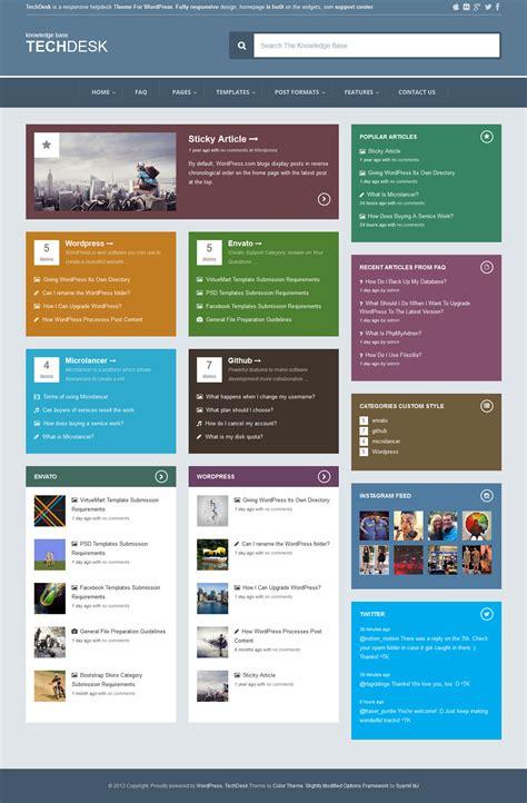 themeforest faq techdesk responsive knowledge base faq theme wordpress