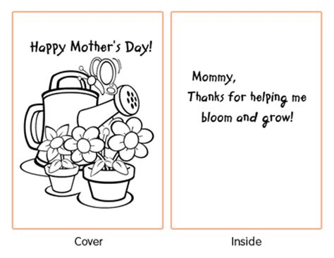 preschool mothers day card template free printable s day cards for coloring