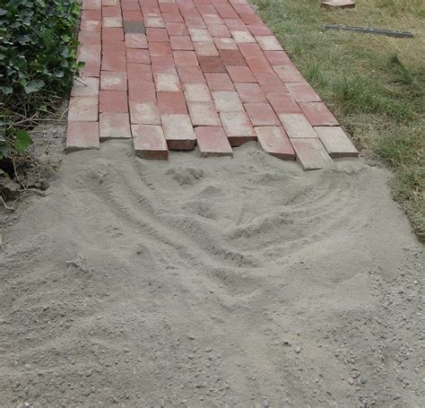 setting a paver path