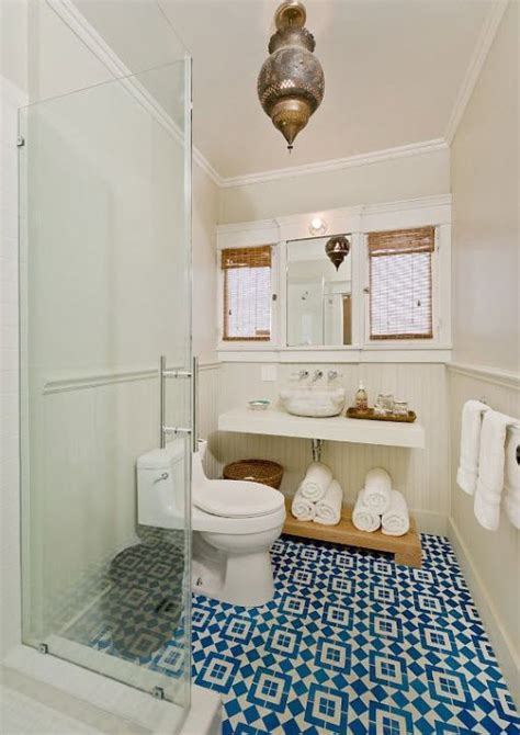 Blue And White Bathroom Floor Tiles by 36 Blue And White Bathroom Floor Tile Ideas And Pictures