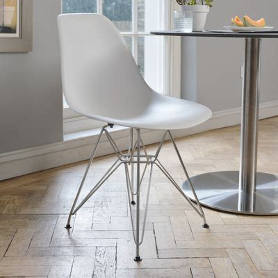 dining chairs with metal legs eiffel dining chair with metal legs white dwell