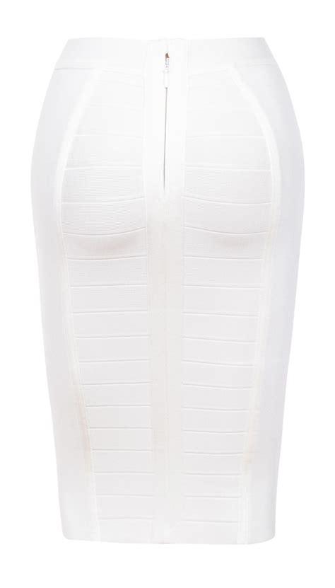 clothing skirts sorcha white knee length bandage