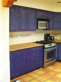 Painting Kitchen Cabinets Blue Blue Stained Kitchen Cabinets Galleryhip Com The