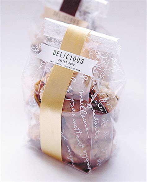 Cookies Gold Yoshikawa 3 Pcs 30 pieces lot clear plastic cookies bags with gold paper